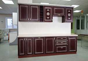 20151219 Кухня с фасадами МДФ с ПВХ с 3D фрезеровкой львы